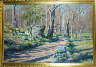 """Арт-студия """"Кентавр"""" - Краутен Йохан (1858-1932) - """"Весна в лесу"""" 1918г №009308"""