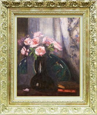 """Арт-студия """"Кентавр"""" - Плинке Август (1855-1903) - """"Пейзаж с детьми на мосту"""" №009338"""