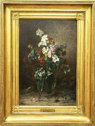 """Арт-студия """"Кентавр"""" - """"Весенние цветы в стеклянной вазе"""" №009522"""