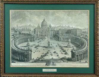 """Арт-студия """"Кентавр"""" - """"Главный вид на собор и площадь Святого Петра в Ватикане""""  №009596"""