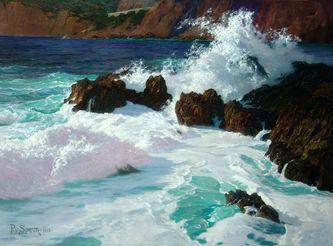 "Арт-студия ""Кентавр"" - Спаун Пауль фон (1876-1932) - ""У побережья Капри"" 1913г. №009638"