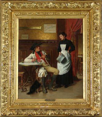 """Арт-студия """"Кентавр"""" - Хиддеманн Фридрих Петер (1829-1892) - """"В кабачке"""" 1891 г. №009779"""