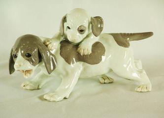 """Арт-студия """"Кентавр"""" - Фарфоровая статуэтка «Собачья семейка» №009785"""