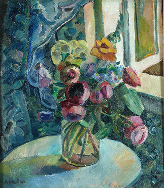 "Арт-студия ""Кентавр"" - Хольм Астрид (1876 - 1937) - ""Натюрморт с цветами"" №009933"