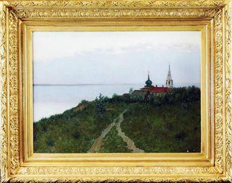 """Арт-студия """"Кентавр"""" - """"Сумерки. Пейзаж с церковью""""  №009962"""